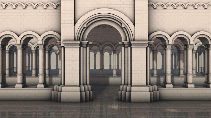 royal gateway  3d model obj mtl 3ds fbx c4d 1