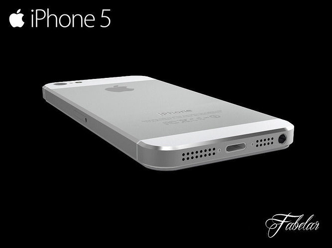iphone 5 free 3d model max obj 3ds fbx c4d dae 1