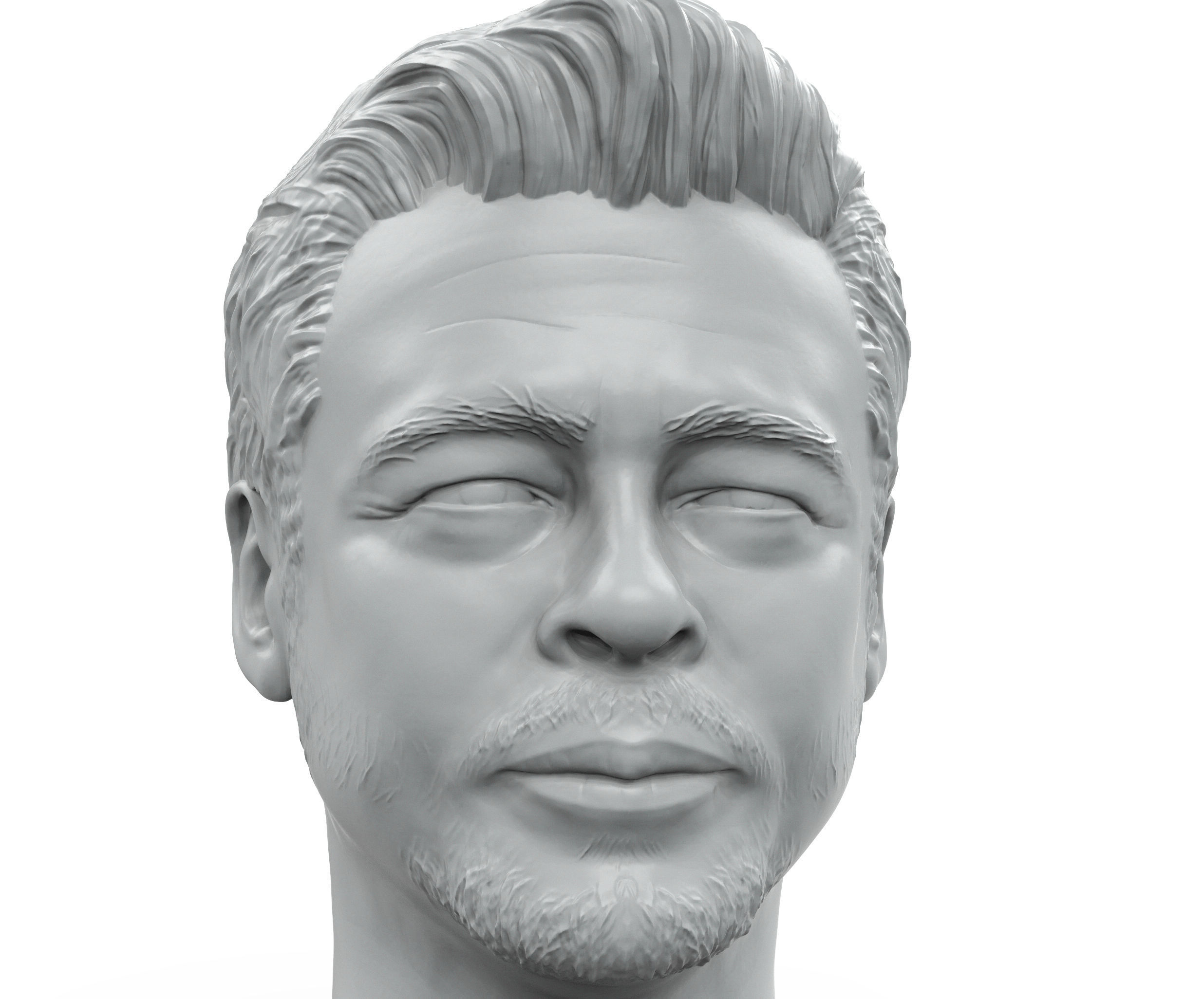 Benicio Del Toro 3D printable portrait sculpture