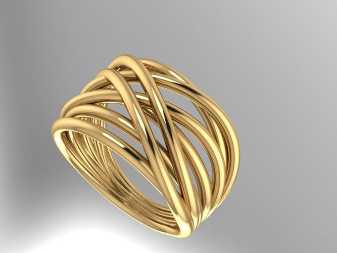gold fashion ring 3d model stl 3dm 1