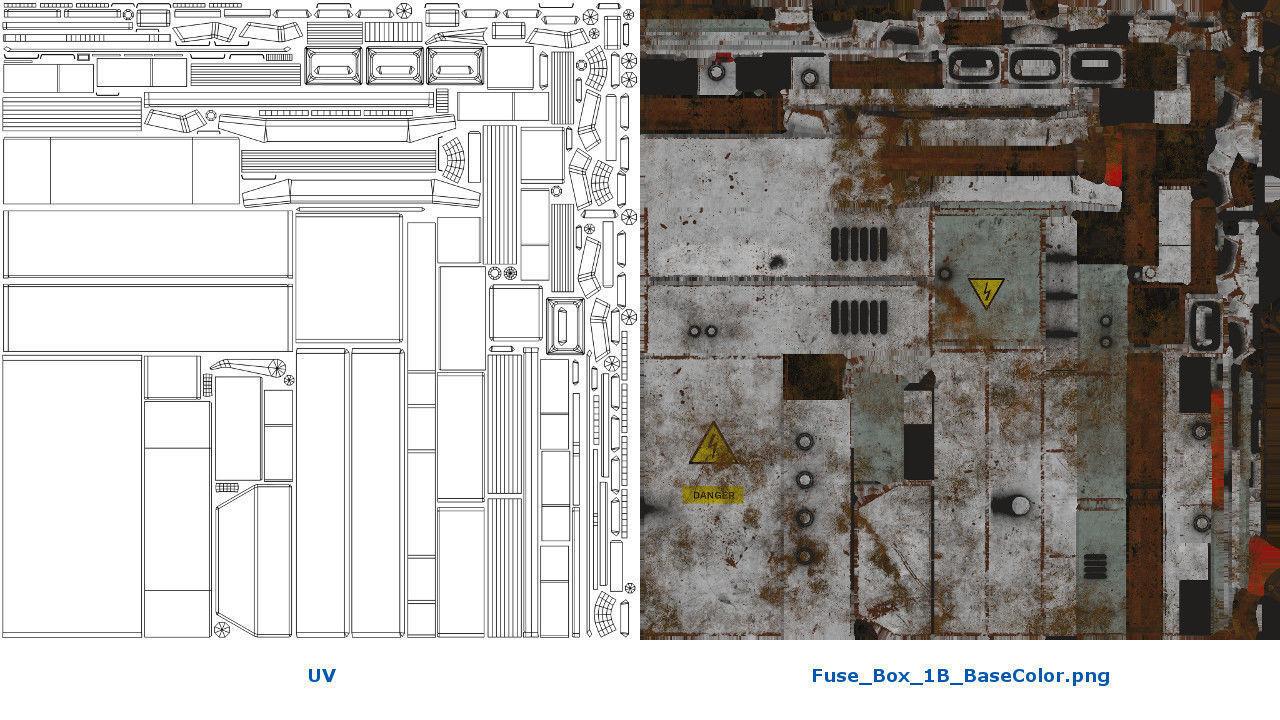 ... fuse box 1b 3d model low-poly obj mtl fbx blend 7 ...