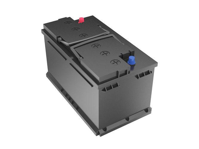 12 volt car battery  3d model max obj mtl 3ds fbx c4d lwo lw lws 1