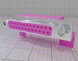 Comport Printer Port Mainboard 3D model