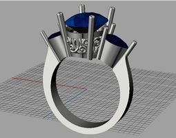 3D print model Oval- pear diamond ring