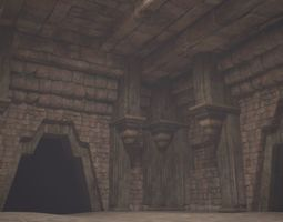 realtime 3D model of underground city relics building
