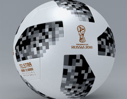 3D Fifa 2018 Official Match Ball Worldcup Telstar - Russia