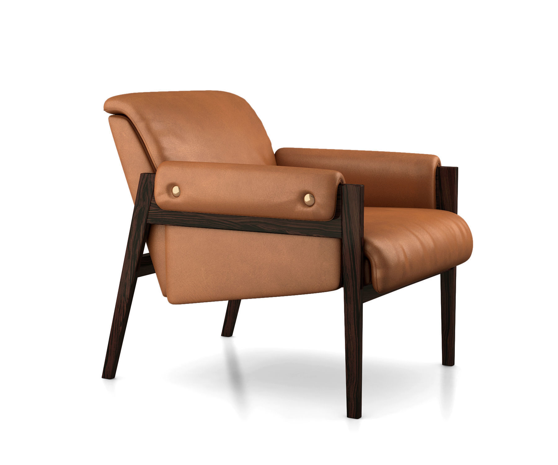 Superb Stanton Leather Chair By West Elm 3D Model Alphanode Cool Chair Designs And Ideas Alphanodeonline