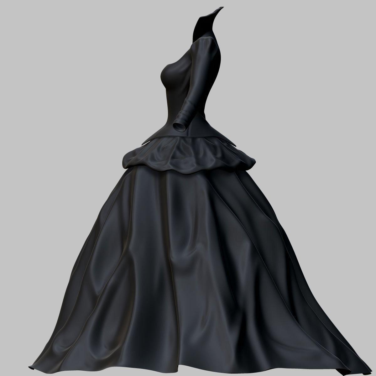 3D model VR / AR ready Victorian Gothic Dress | CGTrader