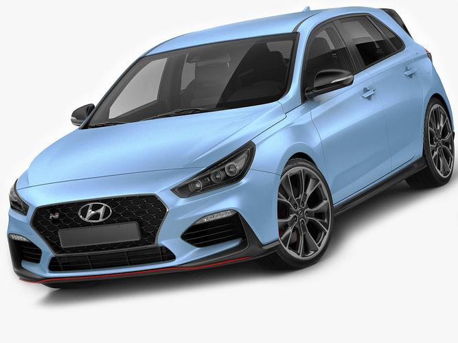 hyundai i30 n 2018 3d model max obj 3ds fbx c4d lwo lw lws 1
