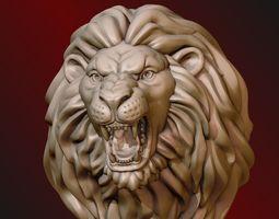art 3D printable model Lion Head