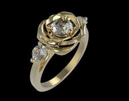 3D printable model rose ring 33