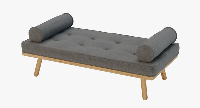 ... Furniture   Day Bed One Another Country   Native C4d   Corona 3d Model  Obj Fbx ...