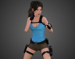 3D asset Lara Croft -Tomb Raider-
