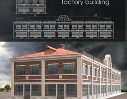 typical Factory building 3D model