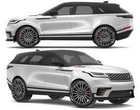 3D model 2018 Land Rover Range Rover Velar Indus Silver