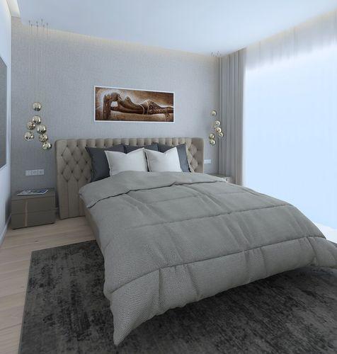 cozy bedroom with a comfortable bed 3d model obj mtl 3ds fbx skp 1