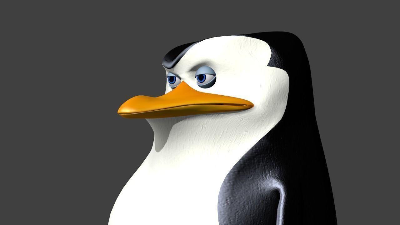 Penguin Skipper 3d Model Low Poly Rigged Blend 3