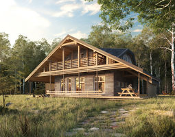 House in forest 3D model