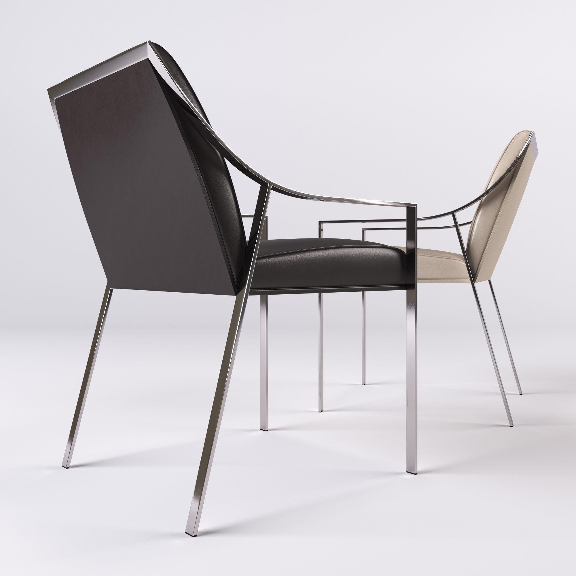 ... Holly Hunt Aileron Dining Arm Chair 3d Model Max Obj Fbx 2 ...
