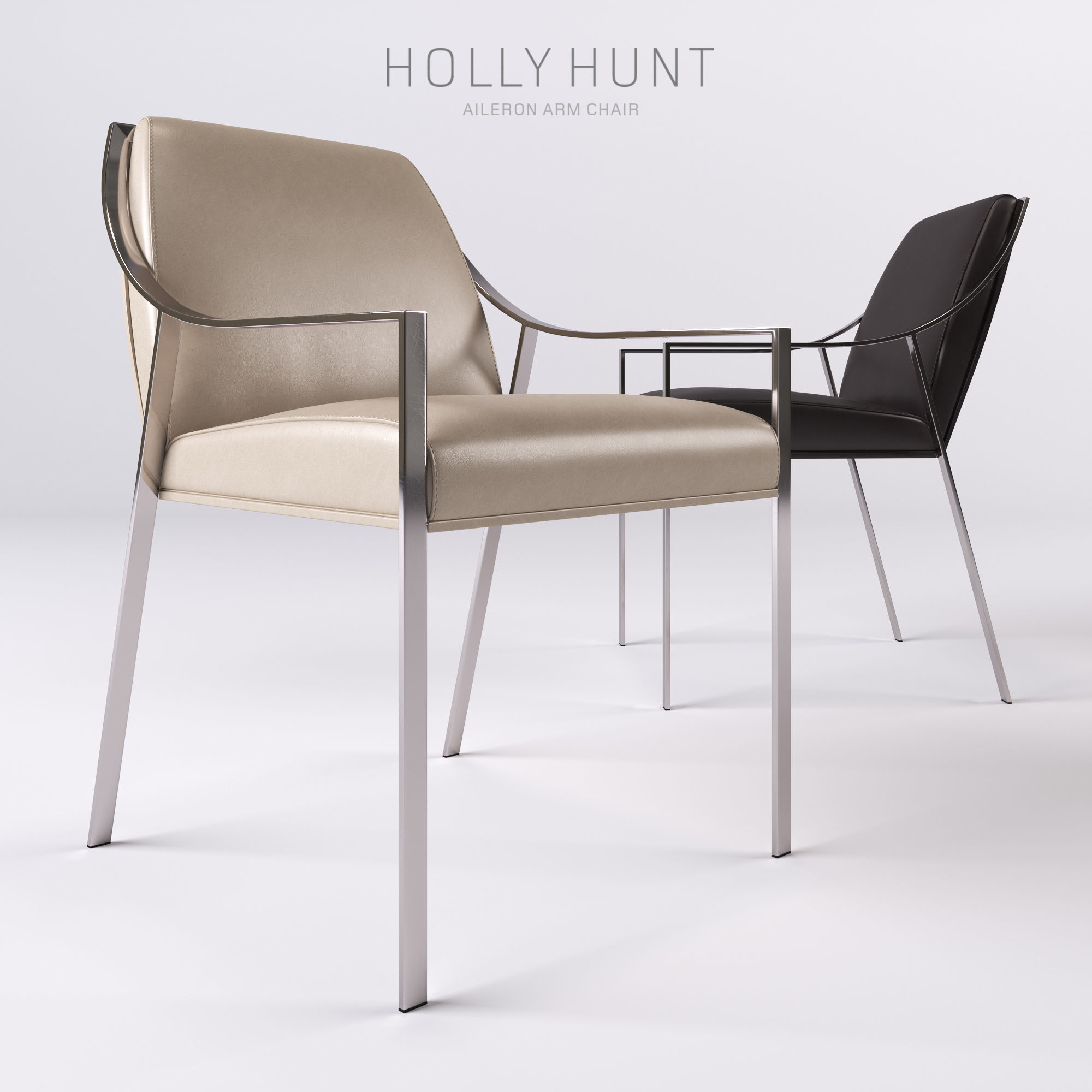 Holly Hunt Aileron Dining Arm Chair 3d Model Max Obj Fbx 1 ...
