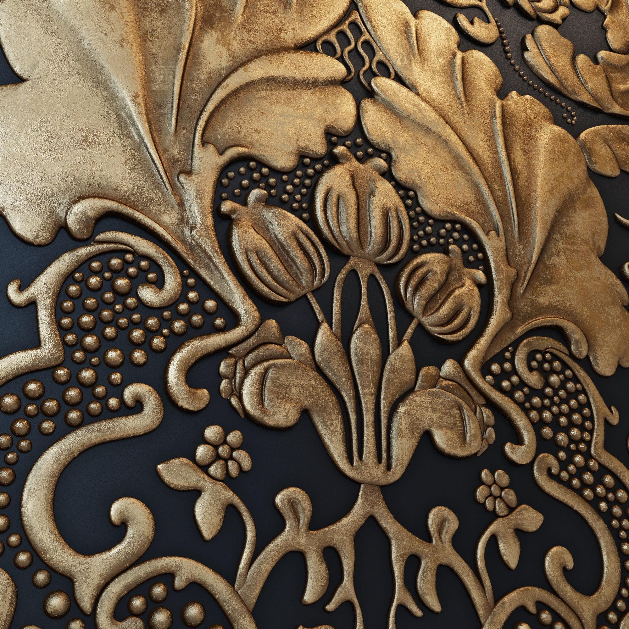 lincrusta wallcoverings italian renaissance 3d | cgtrader