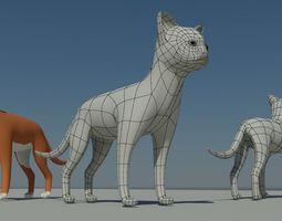3d 3D Cat Model
