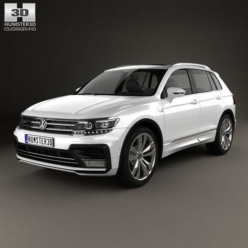 Volkswagen 2015 Tiguan: 3D Model Volkswagen Tiguan R-line 2015
