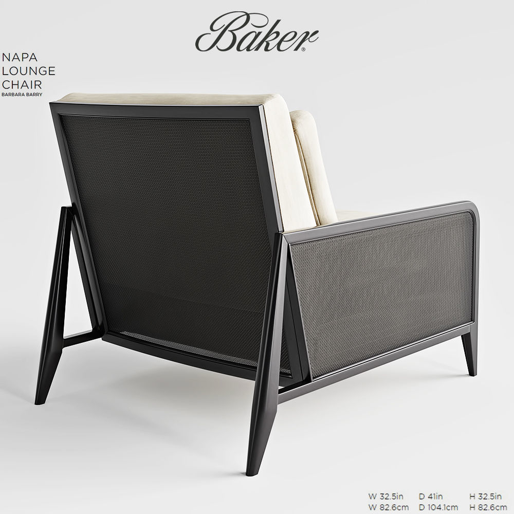 ... Baker Napa Lounge Chair 3d Model Max Obj Fbx Mtl Mat 4 ...