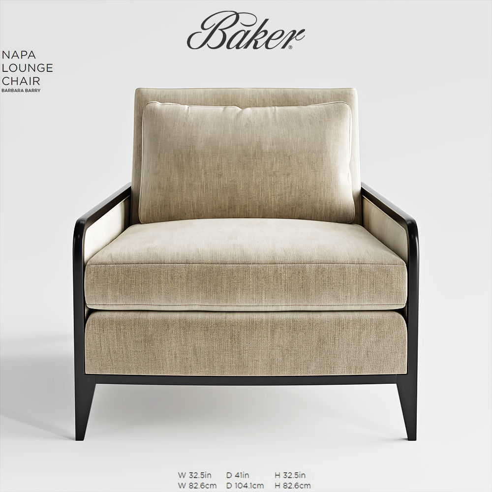 ... Baker Napa Lounge Chair 3d Model Max Obj Fbx Mtl Mat 3 ...