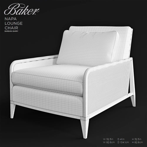 ... Baker Napa Lounge Chair 3d Model Max Obj Fbx Mtl Mat 7