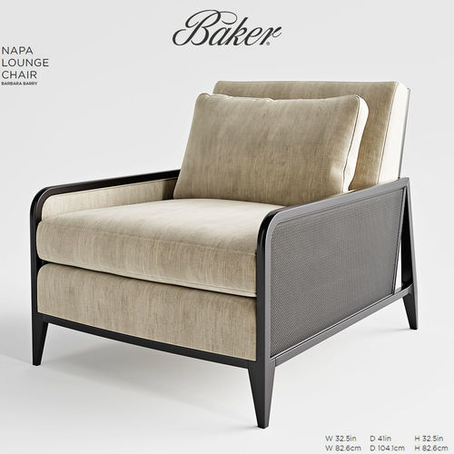 Baker Napa Lounge Chair 3d Model Max Obj Fbx Mtl Mat 1 ...