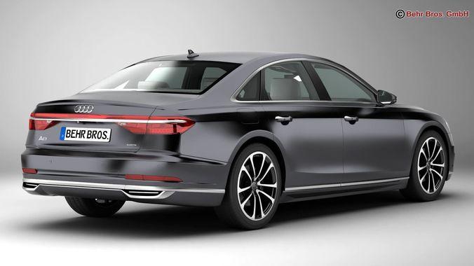 Marvelous ... Audi A8 2018 3d Model Max Obj 3ds Fbx C4d Lwo Lw Lws 4 ...