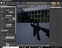 3D asset Realistic M4A1