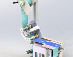 Laminating machine mold module 3D model