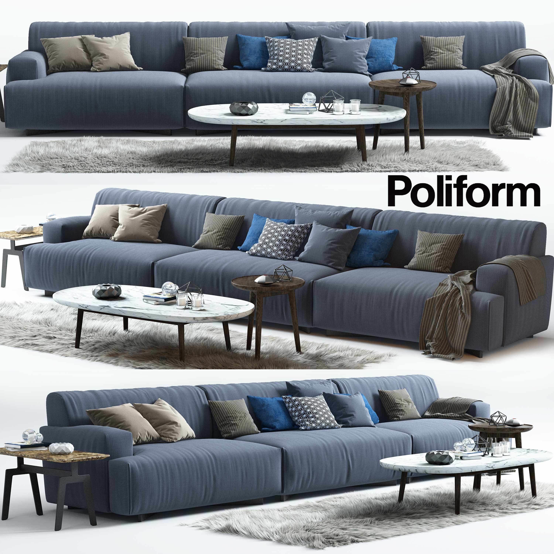 ... Soho Sofa Mad Coffee Table Poliform 3d Model Max Obj 3ds Fbx Stl ...
