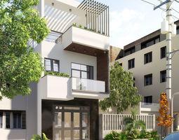 3D model exterior Modern House