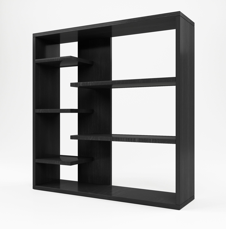 shelf x diy step display rack storage kg of each loading maximum divider black capacity dp cm room cube bookcase songmics