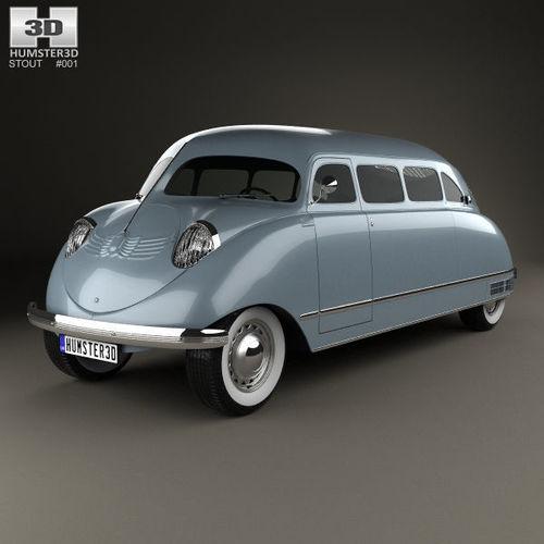 stout scarab 1936 3d model max obj mtl 3ds fbx c4d lwo lw lws 1