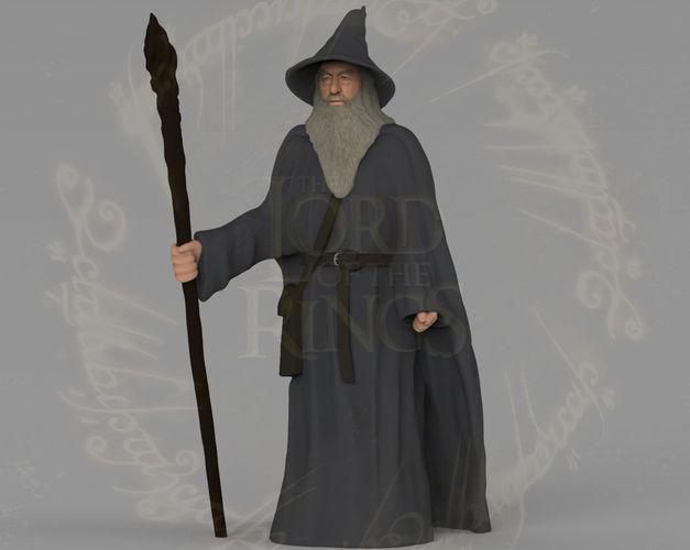 gandalf the lord of the rings hobbit full color 3d printing 3d model obj mtl stl wrl wrz 1
