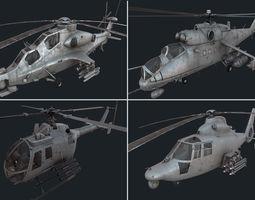 3D model Holicopter pack