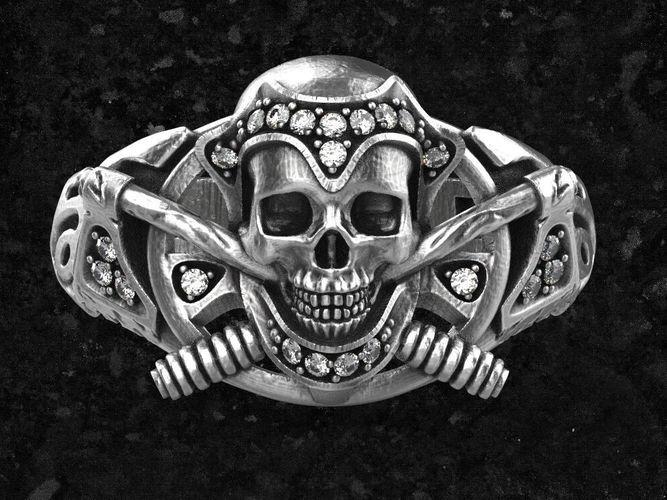 skull-ring2 3d model obj stl ztl 1