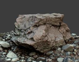 Rock on Ground 3D asset