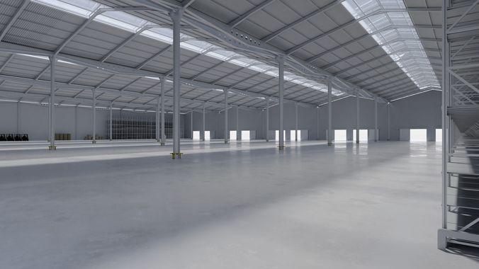 Delightful Warehouse Interior 11 3d Model Obj 3ds Fbx Blend Mtl Tga 1 ...