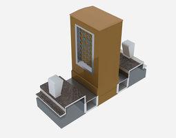 3D model Ablution footbath