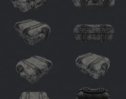 Small military case for Gun VR AR low-poly 3D low-poly 1