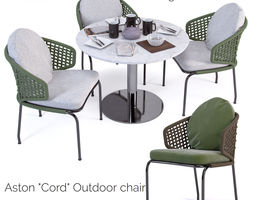 Aston Cord Outdoor chair and Bellagio Bistrot 3D model