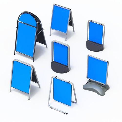 street sign furniture. Street Sign Set - Seven Types 3D Model Furniture