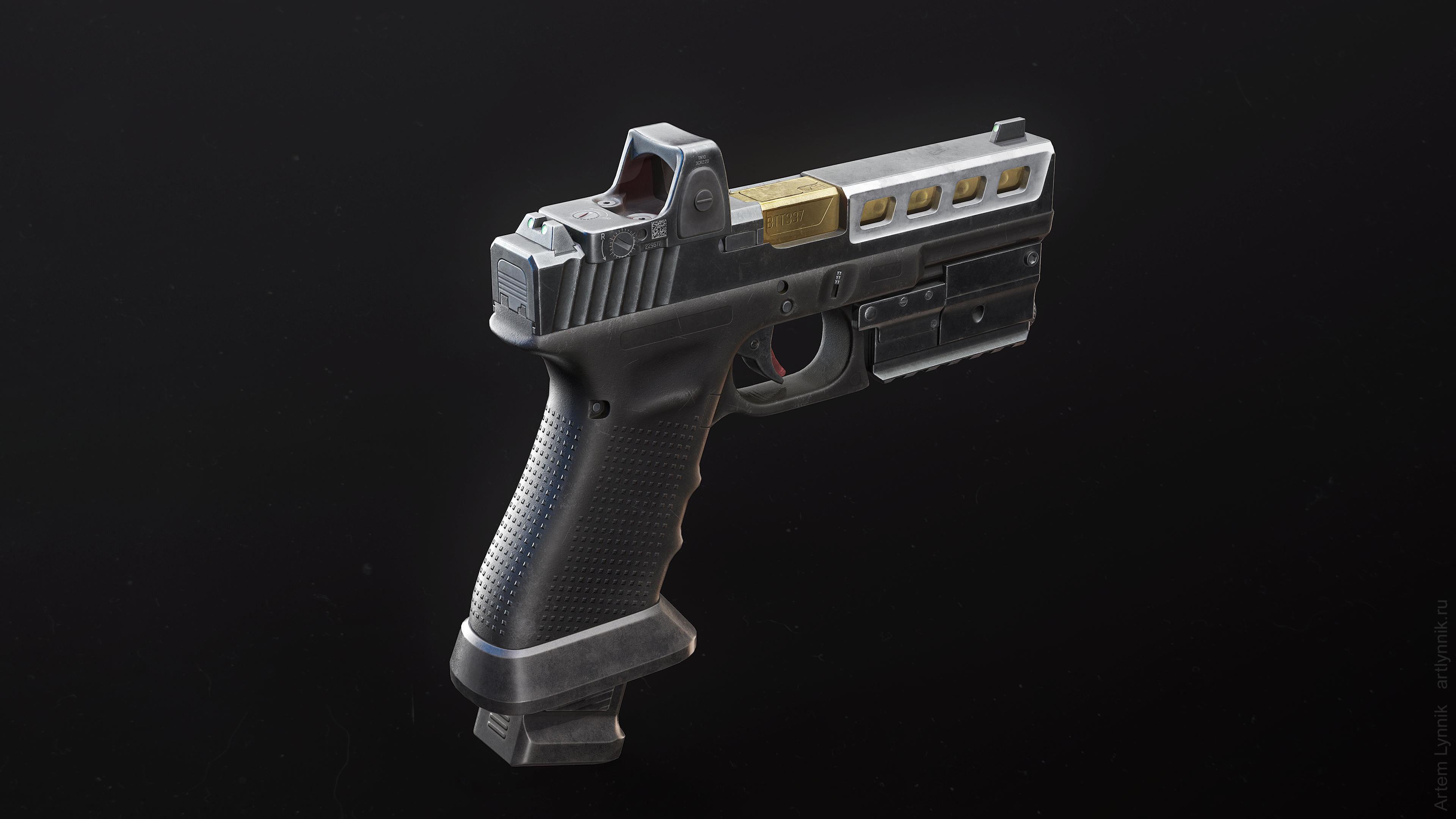 Glock 17 Custom Pistol with Attachments