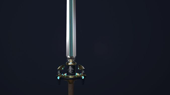Chineese stylized two-handed sword