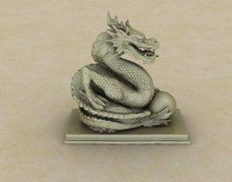 3D print model dragon statue